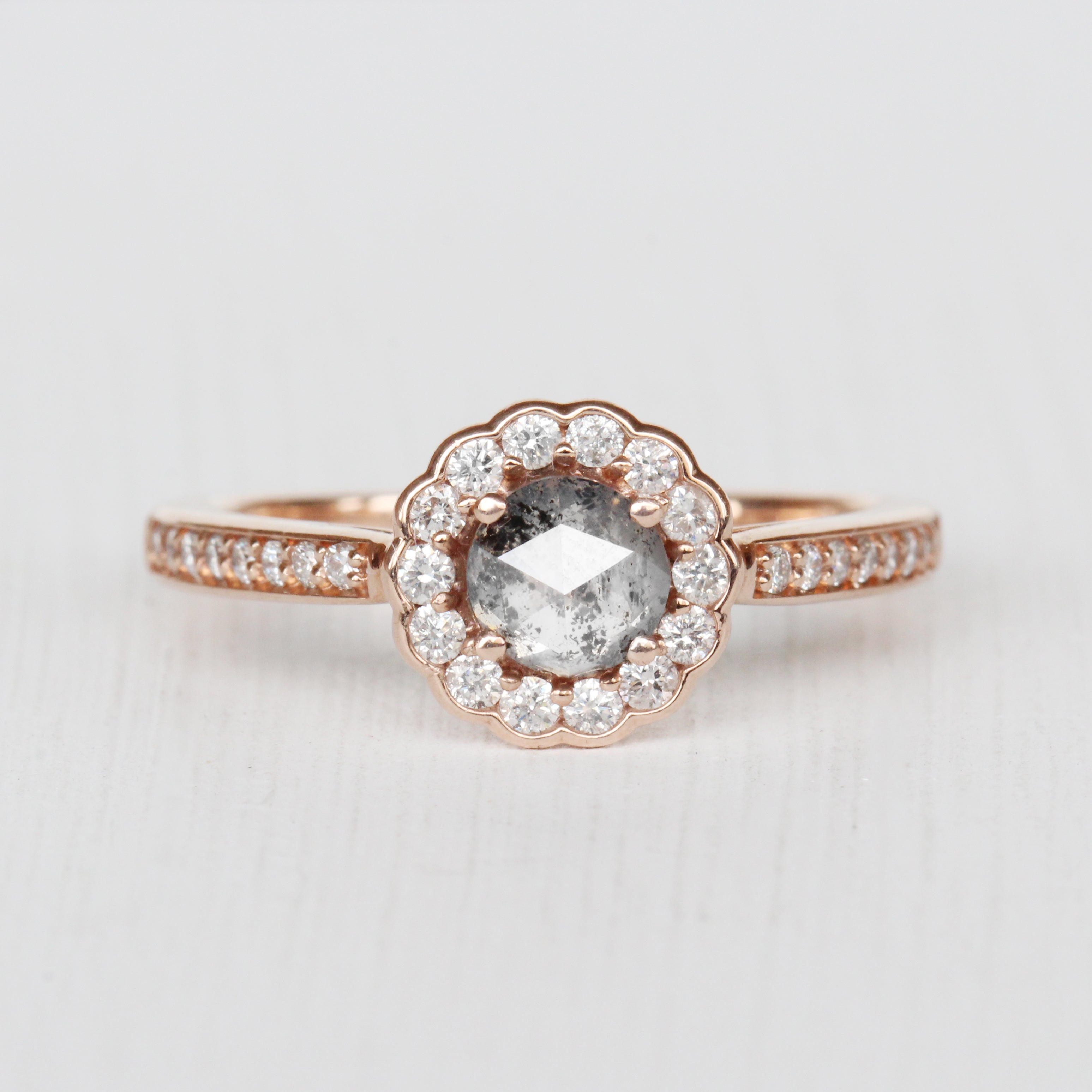 Poppy Ring with a Celestial Diamond in 10k Rose Gold - Ready to Size and Ship - Celestial Diamonds ® by Midwinter Co.