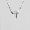 Prasiolite Emerald Cut Pendant Necklaces with 14k Rose Gold Fill Chain - Celestial Diamonds ® by Midwinter Co.