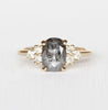 Veragene Ring with a Celestial Oval Diamond in 10k Yellow Gold - Ready to Size and Ship