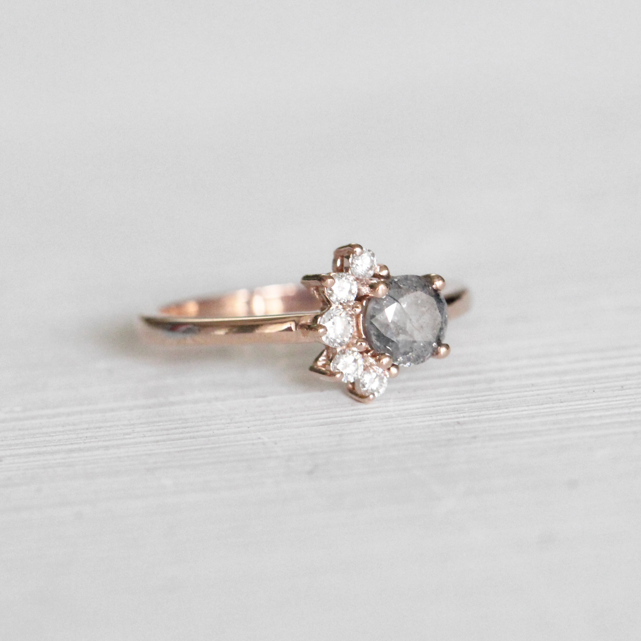 Drew Ring with a .68ct Celestial Diamond® in 10k Rose Gold - Ready to Size and Ship