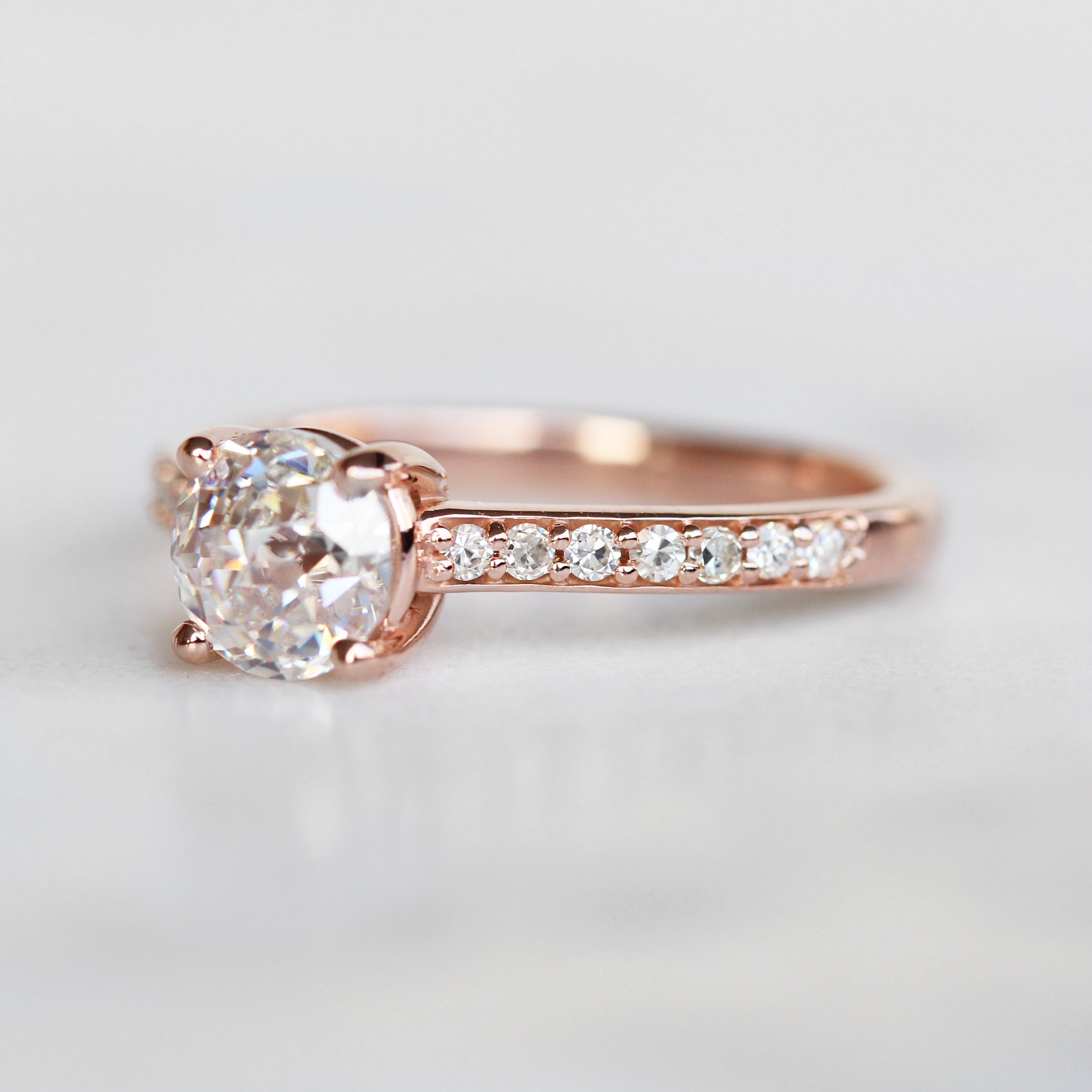 Samantha- Raine Ring with 1.20ct Jubliee Cut Moissanite in 10k Rose Gold- Ready to Size and Ship - Celestial Diamonds ® by Midwinter Co.