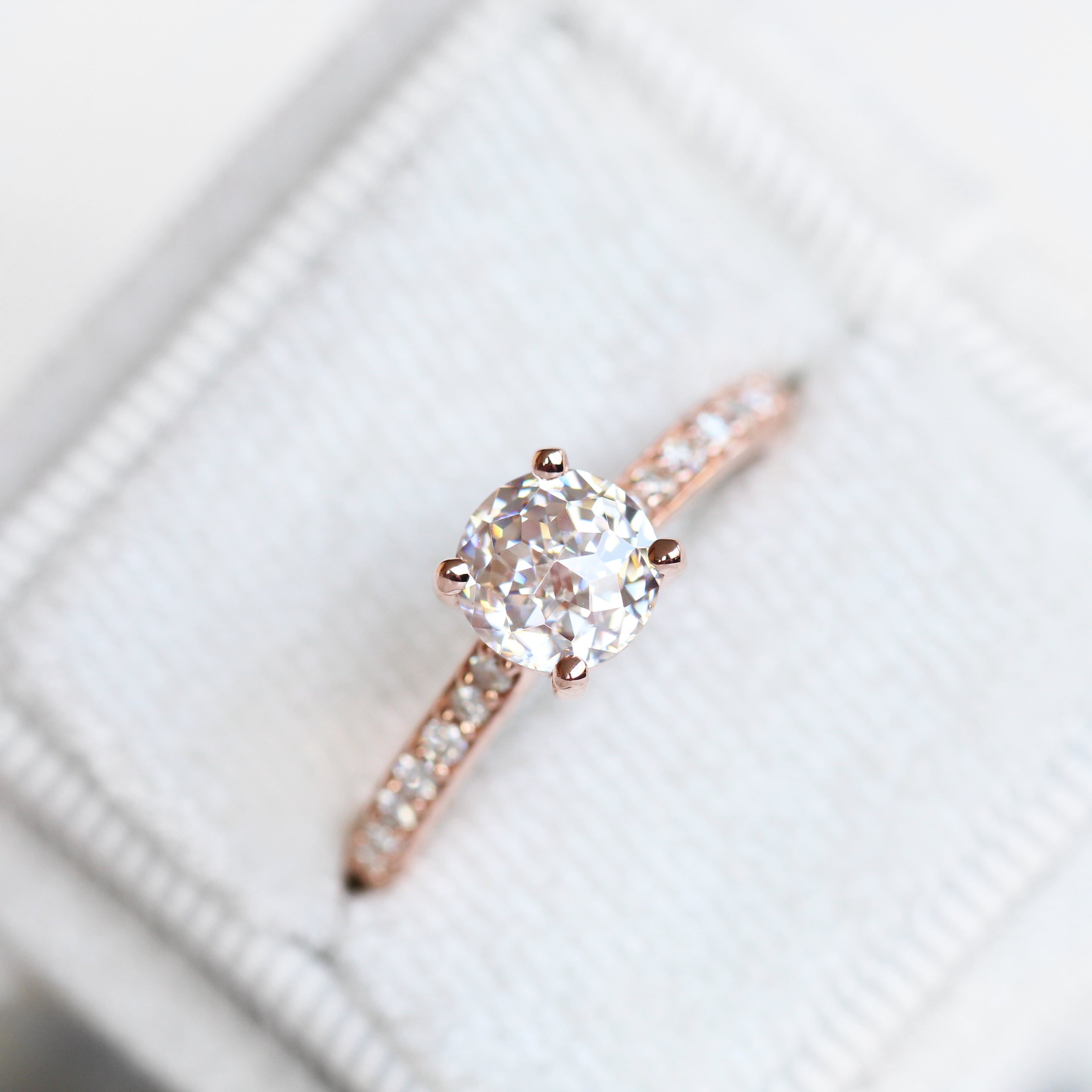 Raine Ring with 1.20ct Jubilee Cut Moissanite in 10k Rose Gold - Ready to Size and Ship - Celestial Diamonds ® by Midwinter Co.