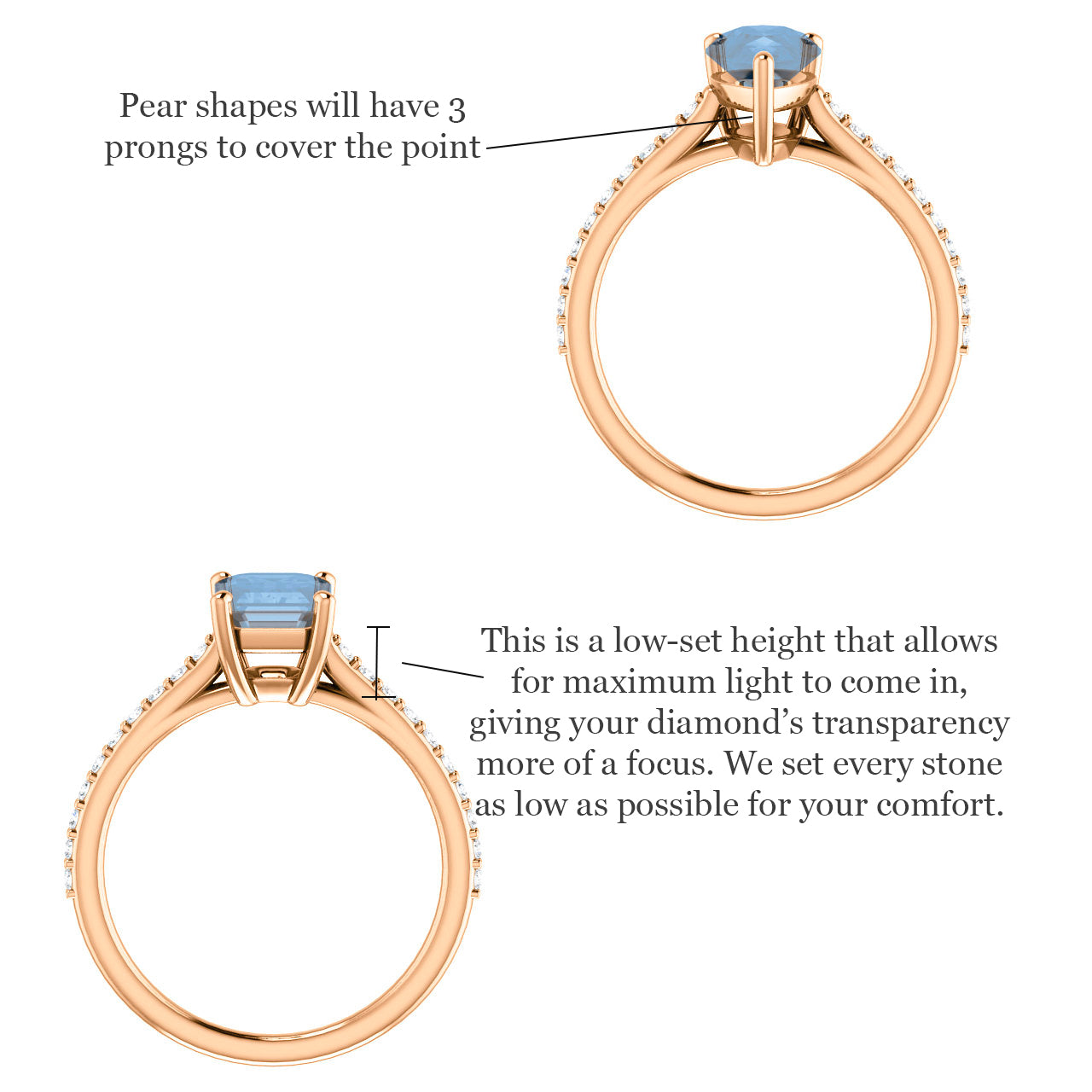 Raine Setting - (redesigned) - Salt & Pepper Celestial Diamond Engagement Rings and Wedding Bands  by Midwinter Co.