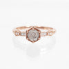 Rene with a Celestial Diamond and Diamond Accents Ring in 10k Rose Gold - Ready to Size and Ship