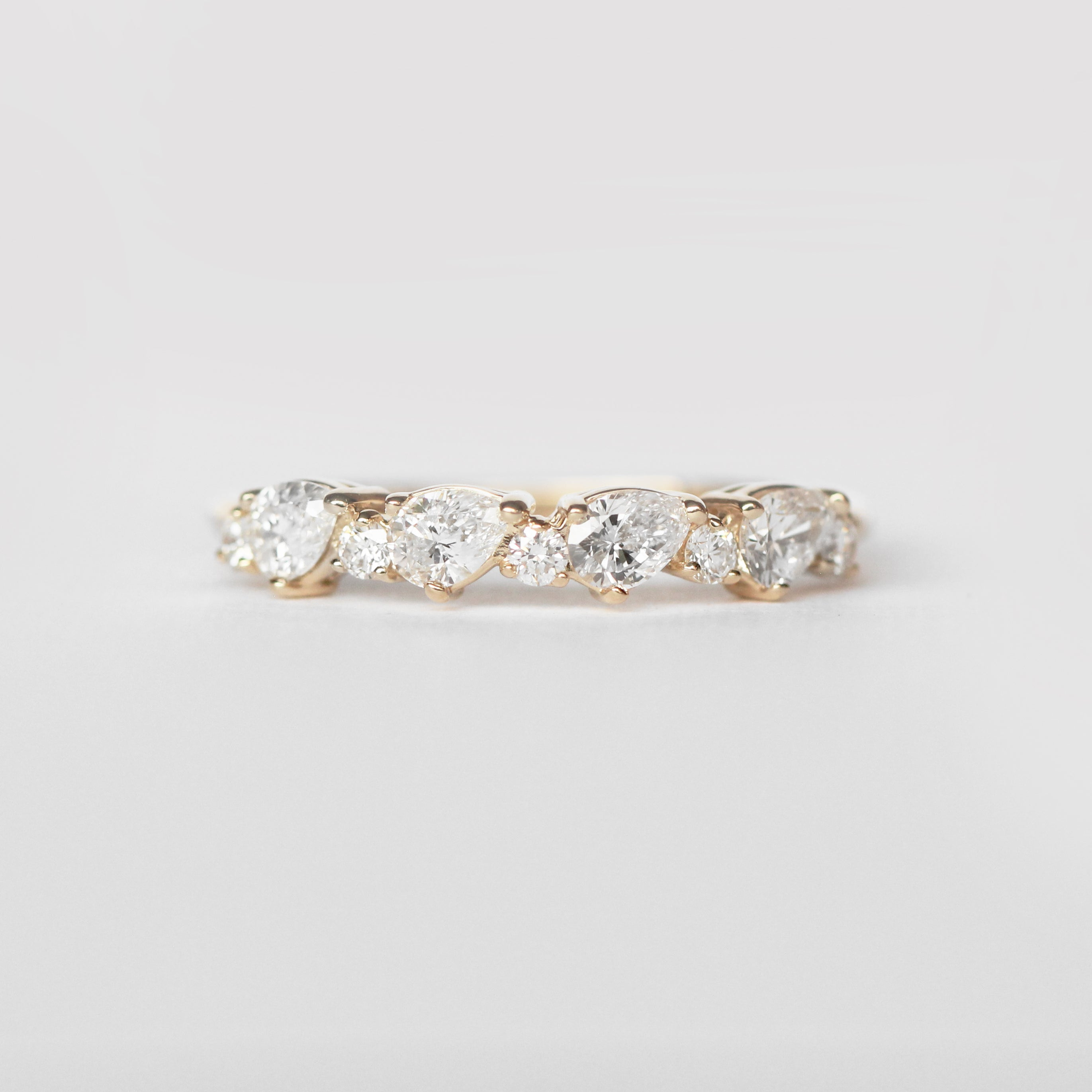Reya Diamond Engagement Ring Band - White diamonds - Salt & Pepper Celestial Diamond Engagement Rings and Wedding Bands  by Midwinter Co.