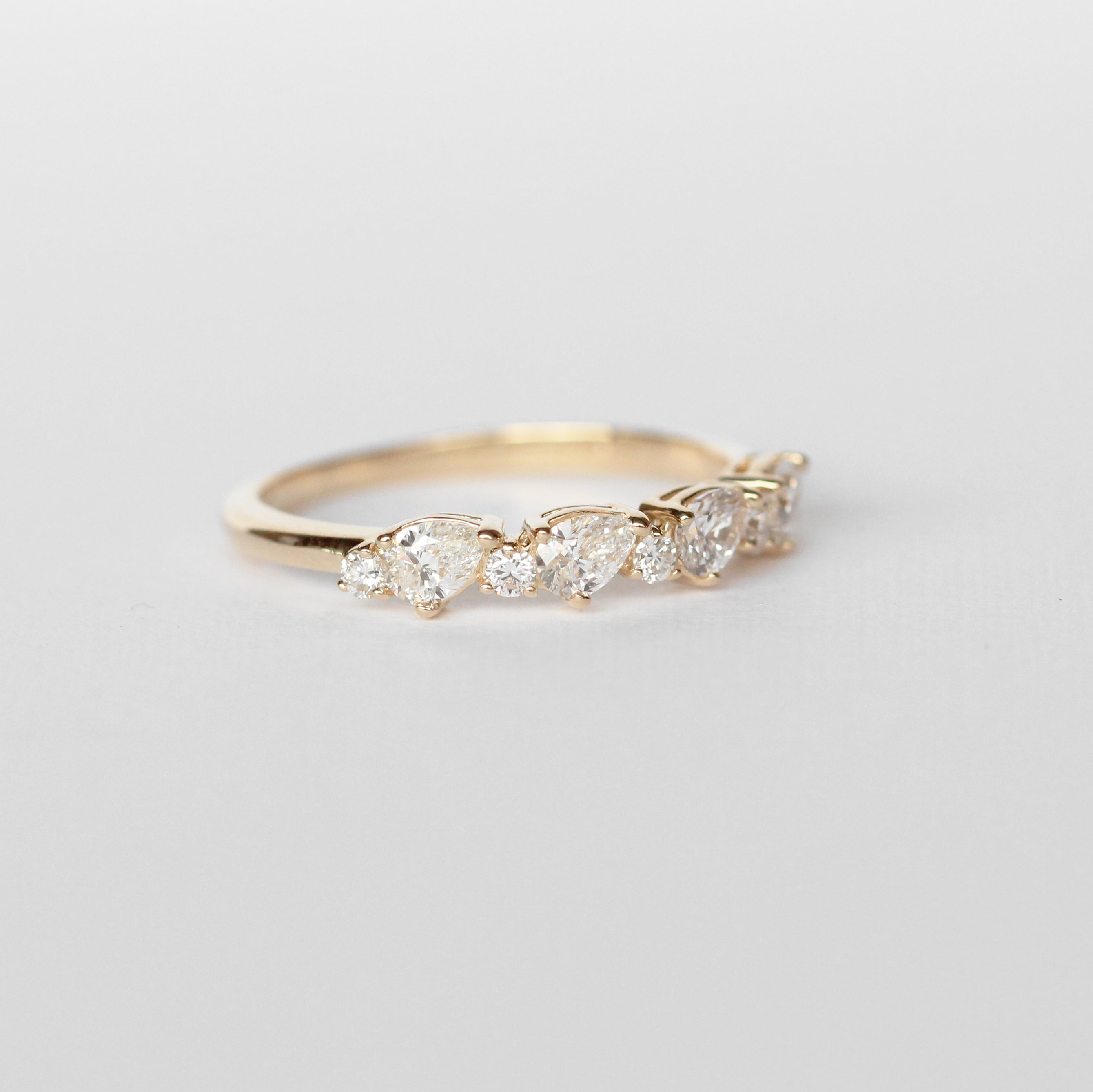 Reya Diamond Engagement Ring Band - White diamonds - Celestial Diamonds ® by Midwinter Co.