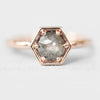 Rhetta Ring with a .70 ct Celestial Diamond in 10k Rose Gold - Ready to Size and Ship - Celestial Diamonds ® by Midwinter Co.