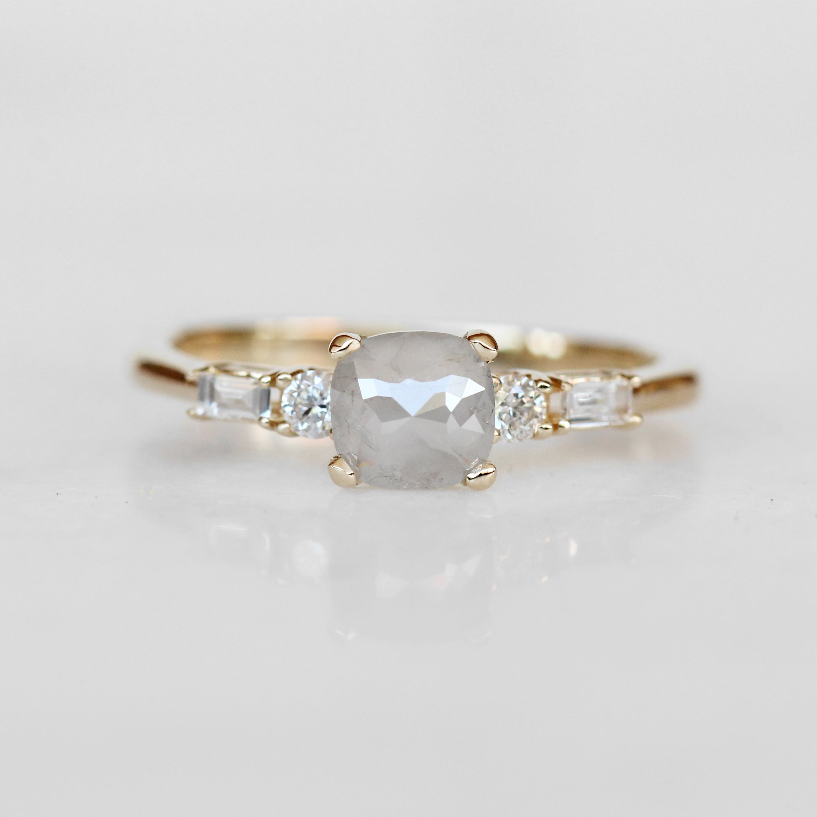 River Ring with a Celestial Diamond and Diamond Accents in 10k Yellow Gold - Ready to Size and Ship - Celestial Diamonds ® by Midwinter Co.