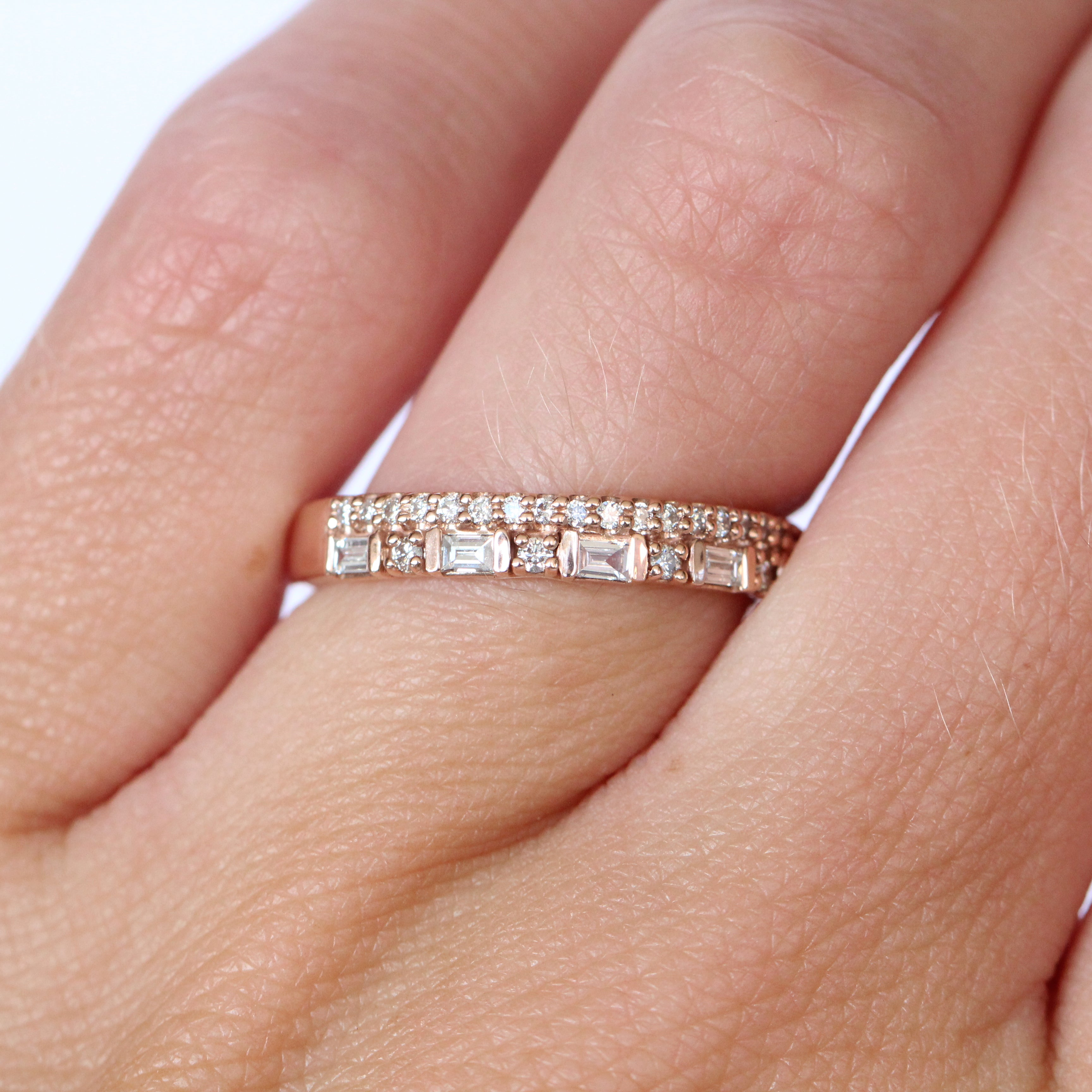 Rosalind Diamond Engagement Ring Band - White diamonds - Celestial Diamonds ® by Midwinter Co.