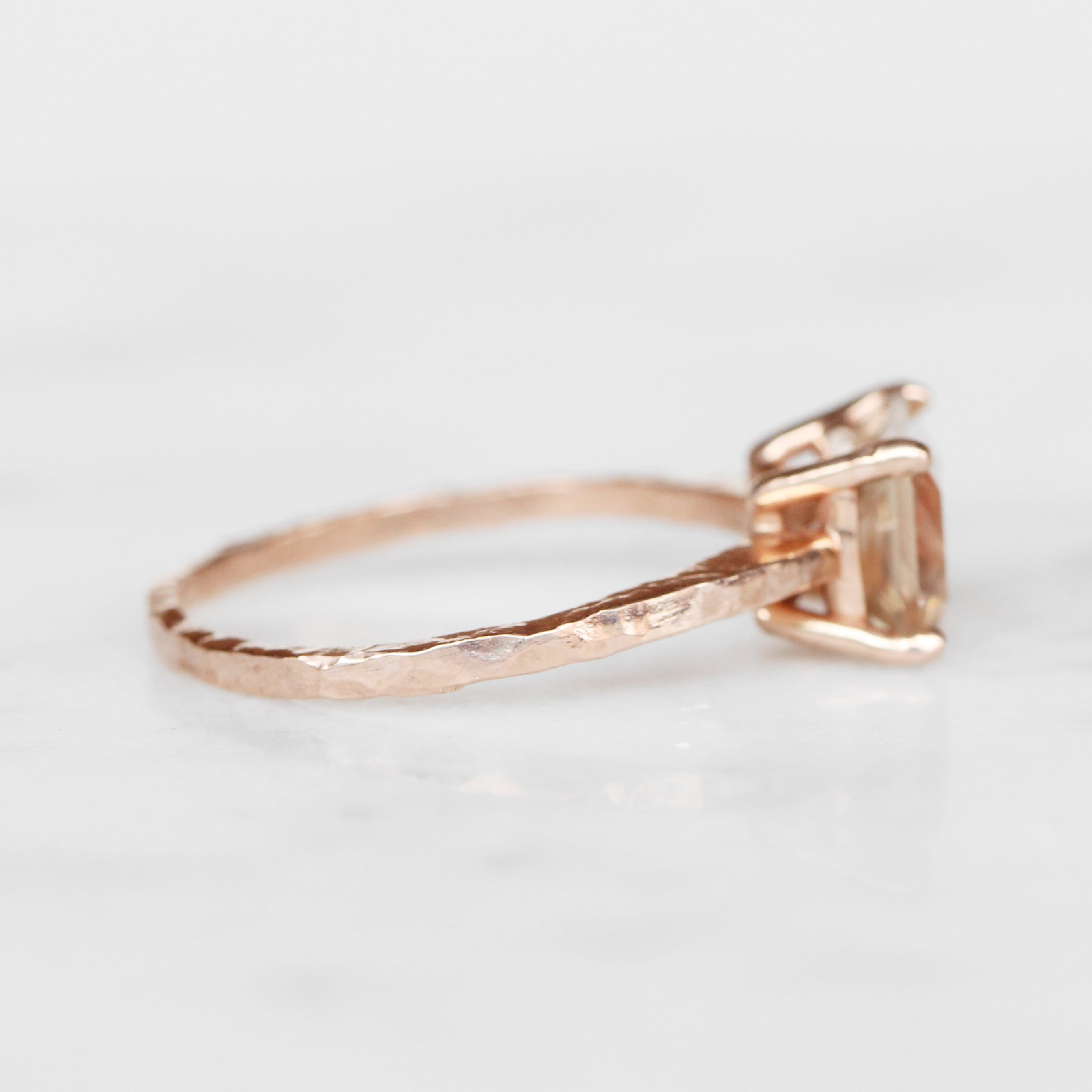 Ruthie Ring with 2 carat sunstone in 10k rose gold - ready to size and ship - Celestial Diamonds ® by Midwinter Co.