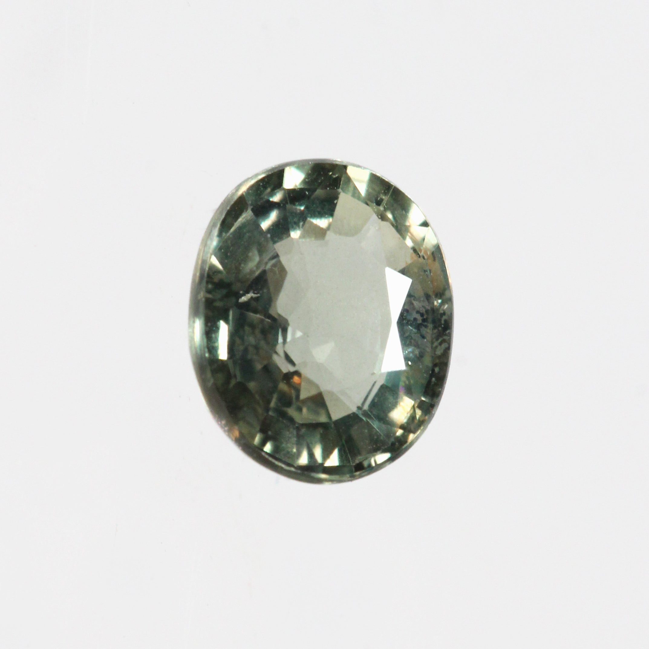 1 ct Oval Olive Green Sapphire for Custom Work - Inventory Code S100