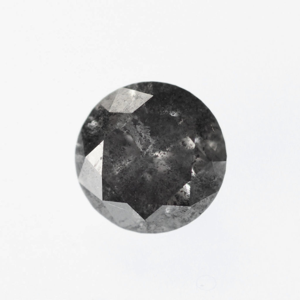 .87ct 6mm celestial gray round diamond - stock inventory code SPBR87