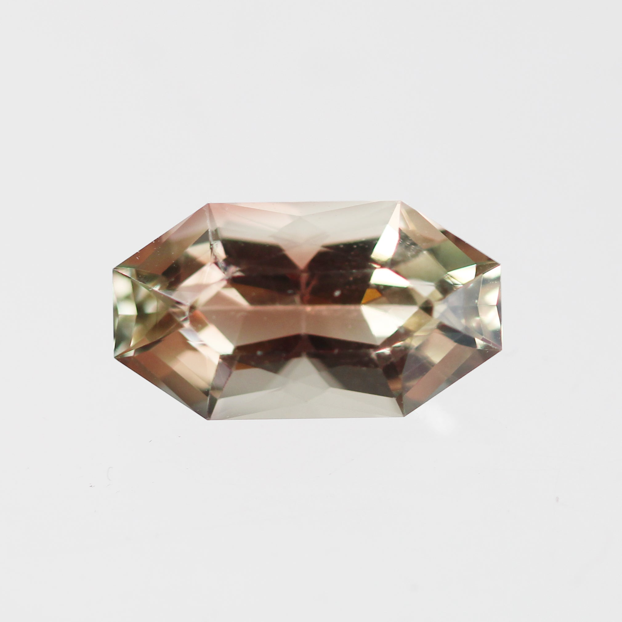6 Carat Hexagon Sunstone - Inventory Code SUNHB600 - Salt & Pepper Celestial Diamond Engagement Rings and Wedding Bands  by Midwinter Co.