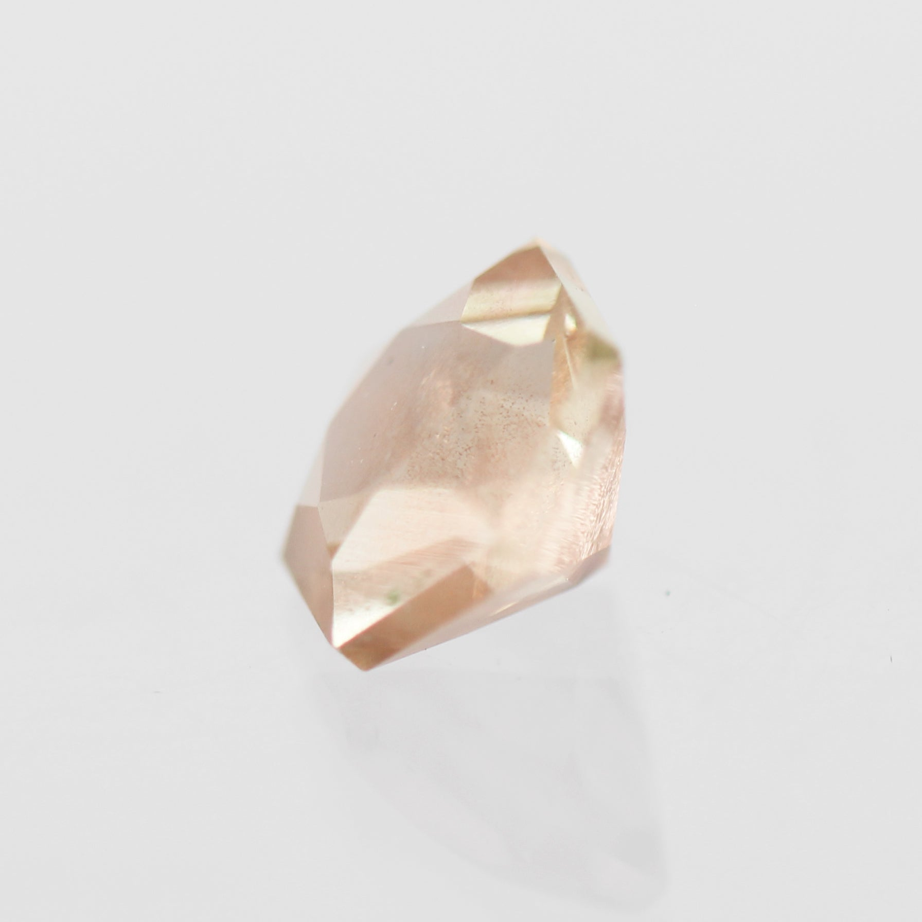2.03 Carat Hexagon Sunstone- Inventory Code SUNHX203 - Midwinter Co. Alternative Bridal Rings and Modern Fine Jewelry
