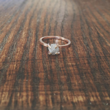 Conflict-free Rough Diamond Solitaire Ring
