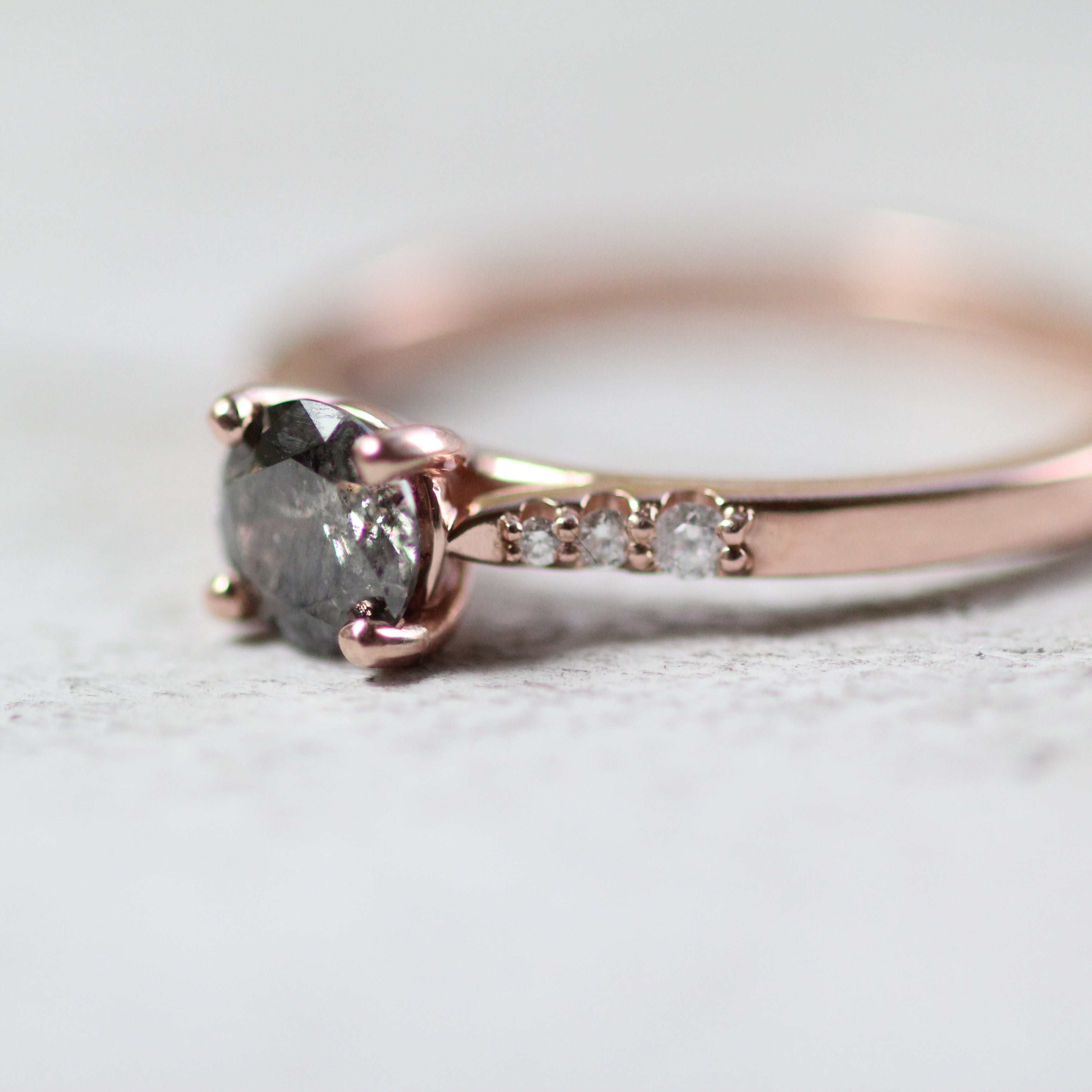 Sloan setting - Salt & Pepper Celestial Diamond Engagement Rings and Wedding Bands  by Midwinter Co.