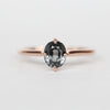 West Ring with a 1.52ct Oval Spinel in 10k Rose Gold - Ready to Size and Ship - Celestial Diamonds ® by Midwinter Co.