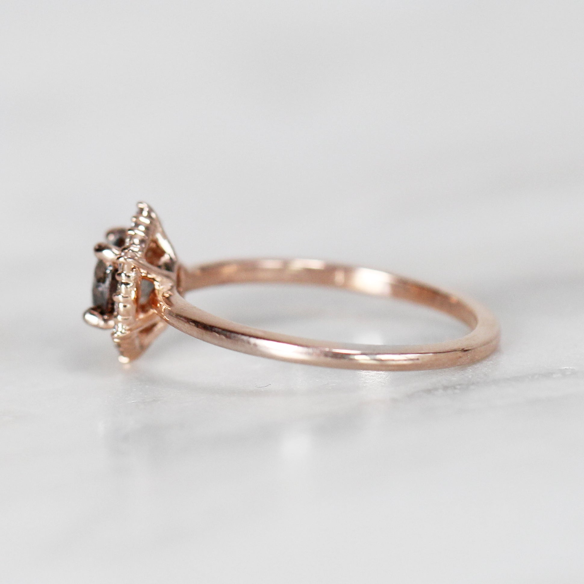 Stella Ring with .75 Carat Round Celestial Diamond in 14k Rose Gold - Ready to size and ship - Celestial Diamonds ® by Midwinter Co.