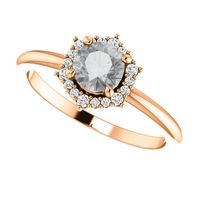 Stella Setting - Salt & Pepper Celestial Diamond Engagement Rings and Wedding Bands  by Midwinter Co.