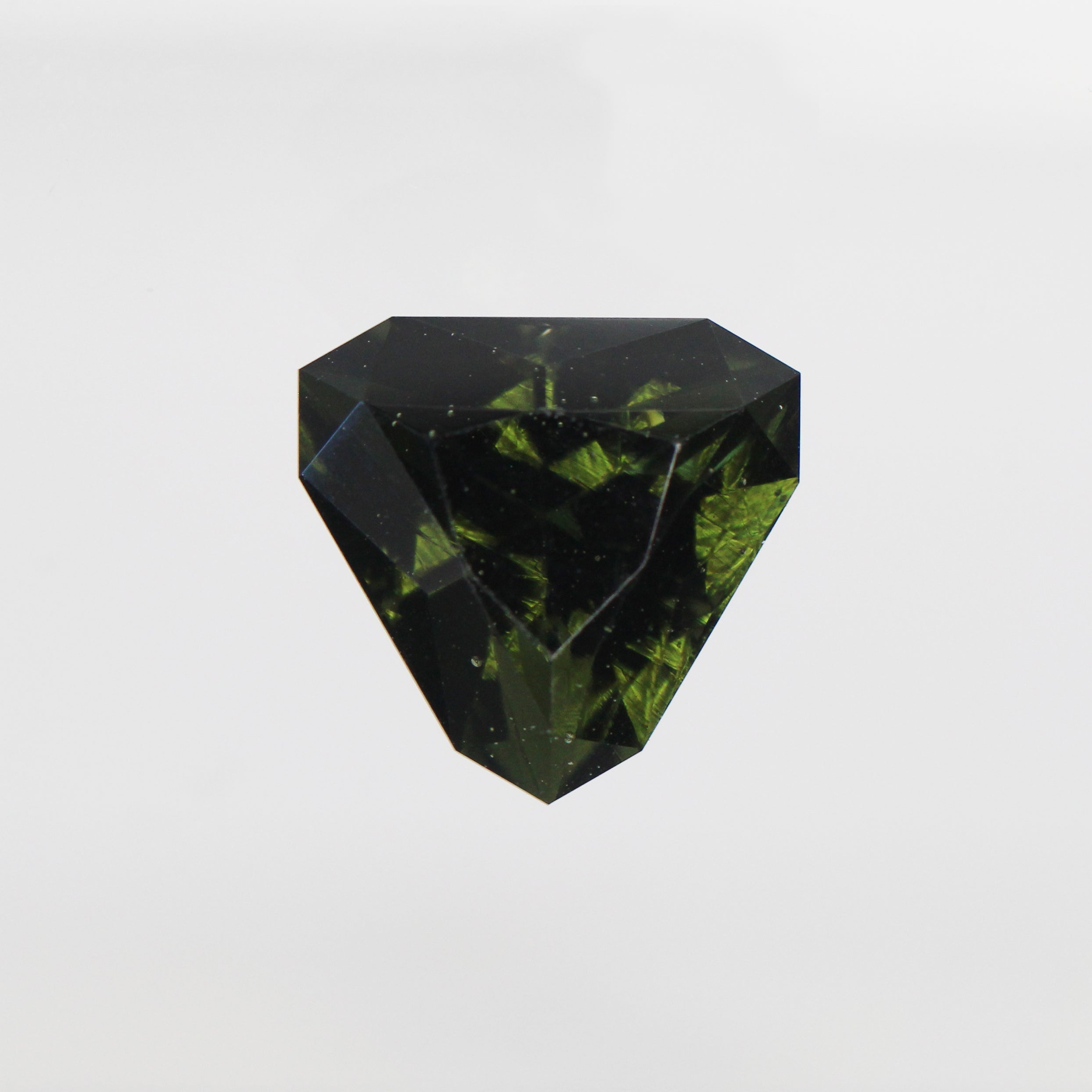 7.89 Carat Trillion Moldavite for Custom Work - Inventory Code TBMG789 - Celestial Diamonds ® by Midwinter Co.