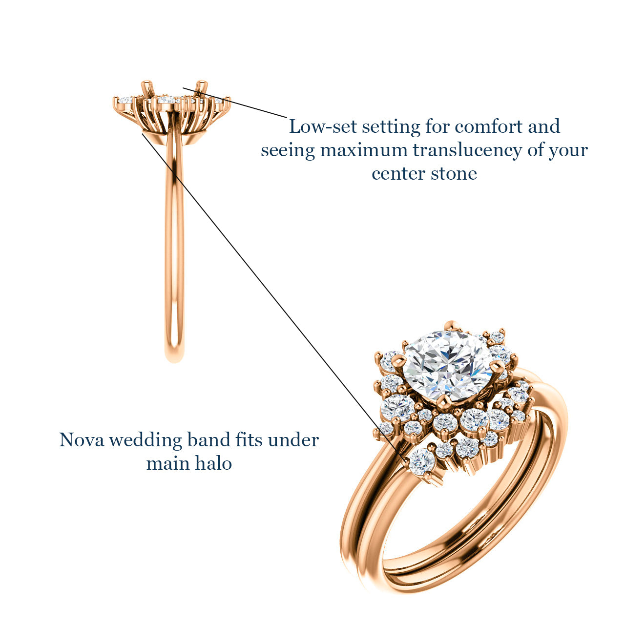 Orion setting - Salt & Pepper Celestial Diamond Engagement Rings and Wedding Bands  by Midwinter Co.