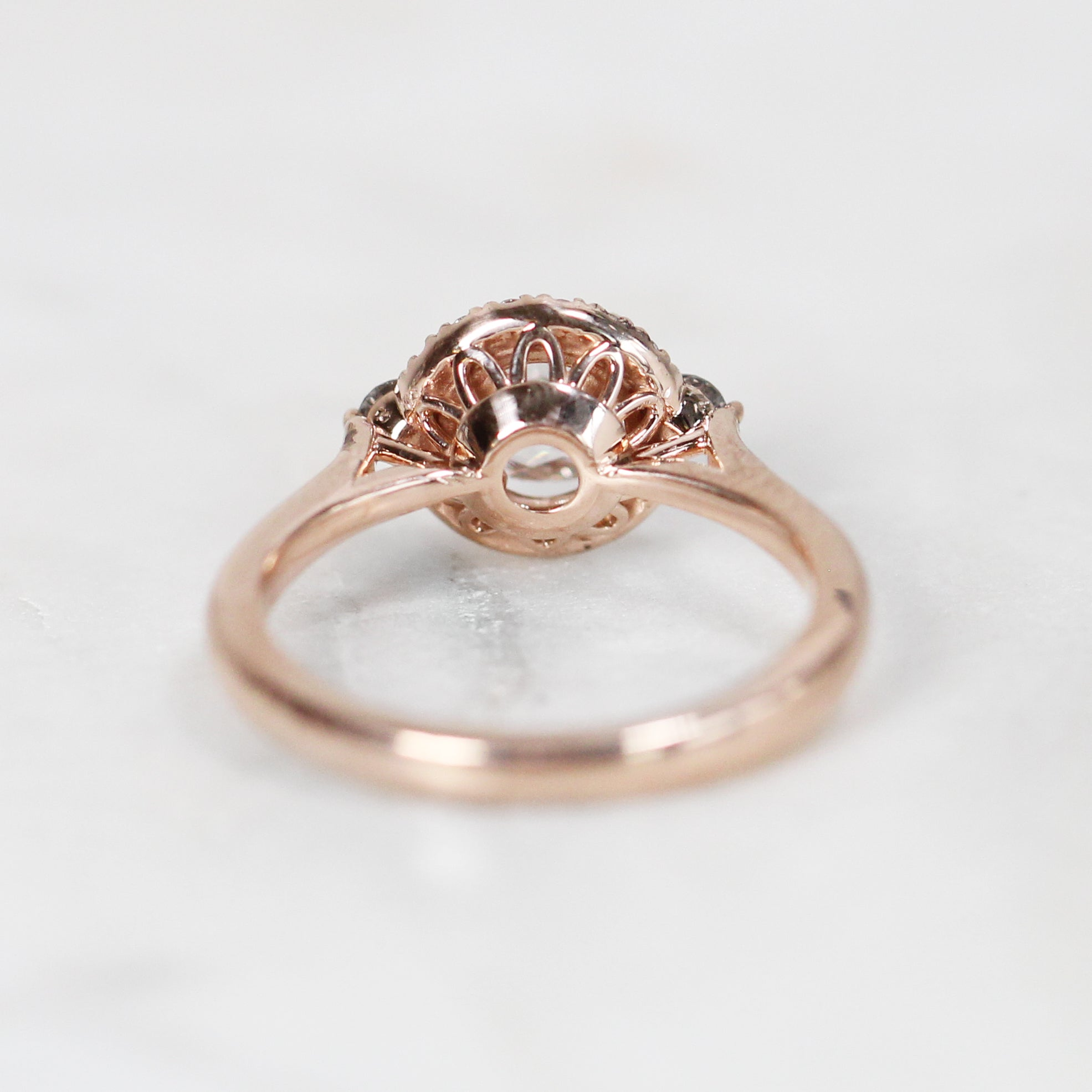 Vanessa Ring with .41 carat Rose Cut Round Diamond in 10k Rose Gold - Ready to Size and Ship - Celestial Diamonds ® by Midwinter Co.