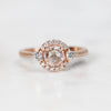 Vanessa Ring with .41 carat Rose Cut Round Diamond in 10k Rose Gold - Ready to Size and Ship - Midwinter Co. Alternative Bridal Rings and Modern Fine Jewelry