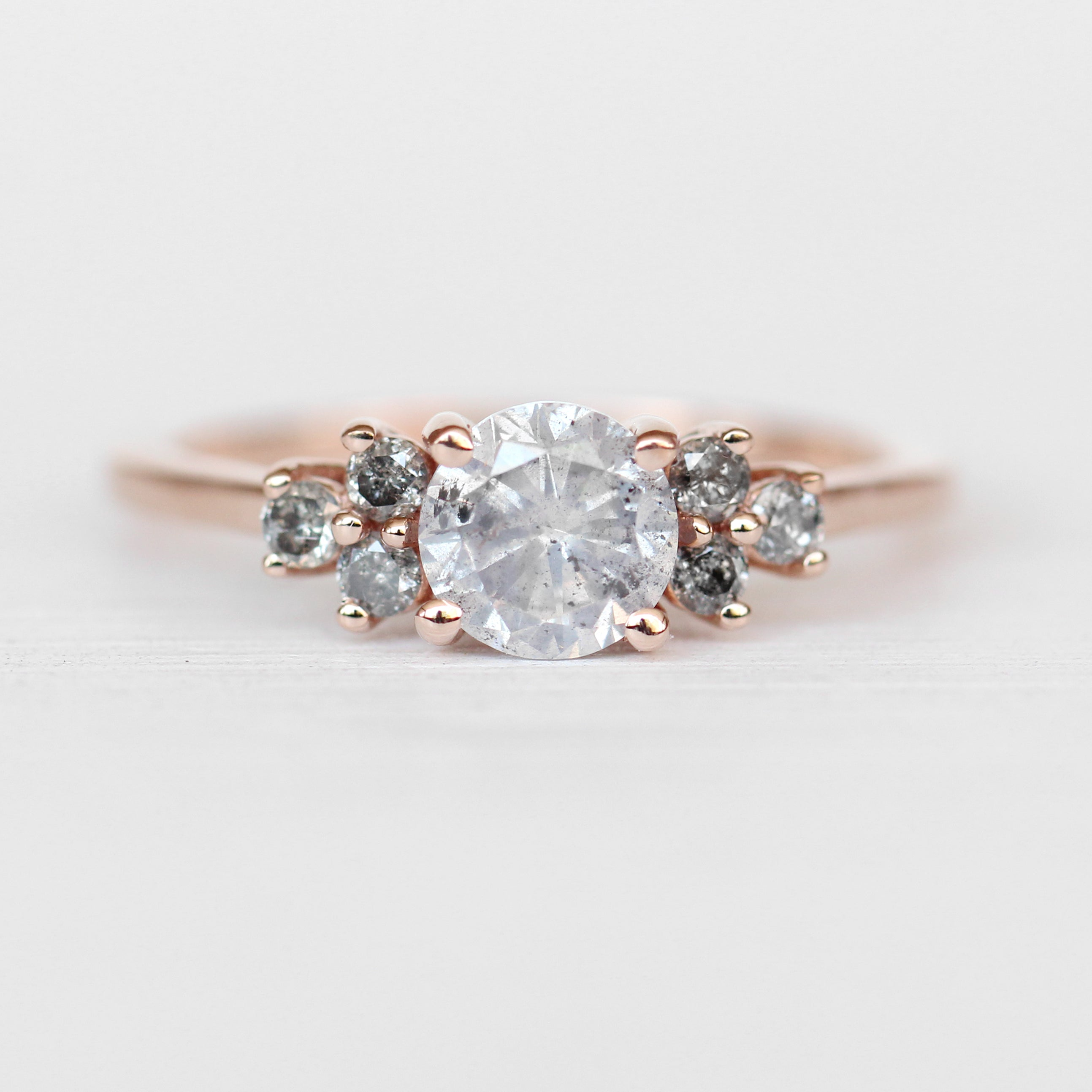 Veragene Ring with a Light Gray Celestial Diamond in 10k Rose Gold - Ready to Size and Ship