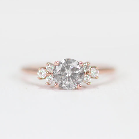 Veragene Ring with a Gray Celestial Diamond in 14k Rose Gold - ready to size and ship