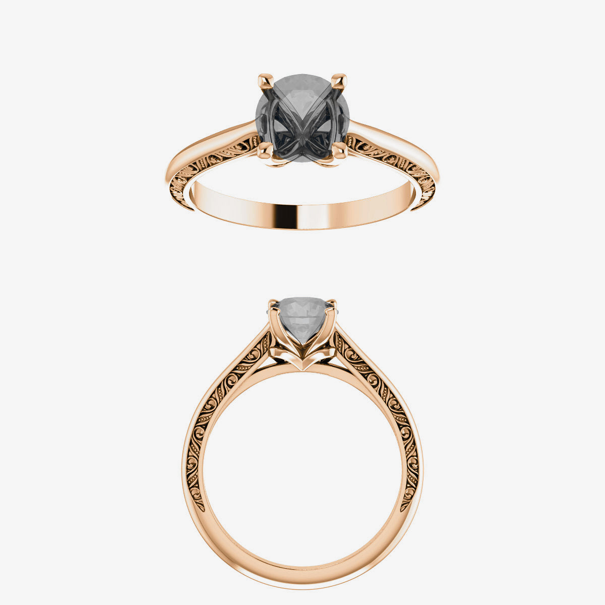Vivienne setting - Midwinter Co. Alternative Bridal Rings and Modern Fine Jewelry