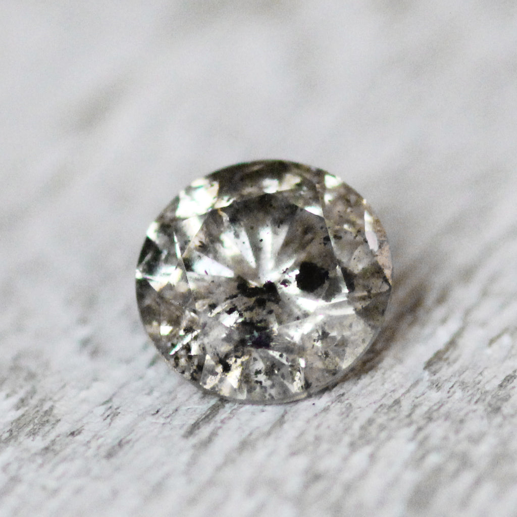 .86ct carat gray champagnge celestial diamond for custom work - inventory code: WBR86