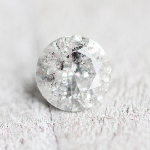 1.01ct 6.5mm white celestial gray round diamond - stock inventory code WR101