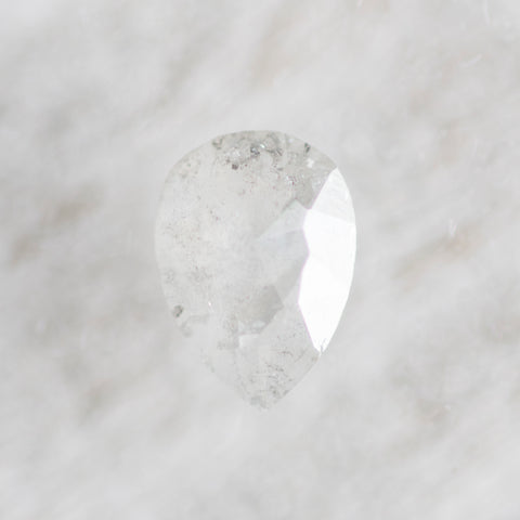 1.35 carat gray white misty pear rose cut diamond - inventory code WRP135