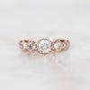 Wanda Ring with a .76 Carat Celestial Diamond and Accents in 14k Rose Gold - Ready to Size and Ship - Midwinter Co. Alternative Bridal Rings and Modern Fine Jewelry