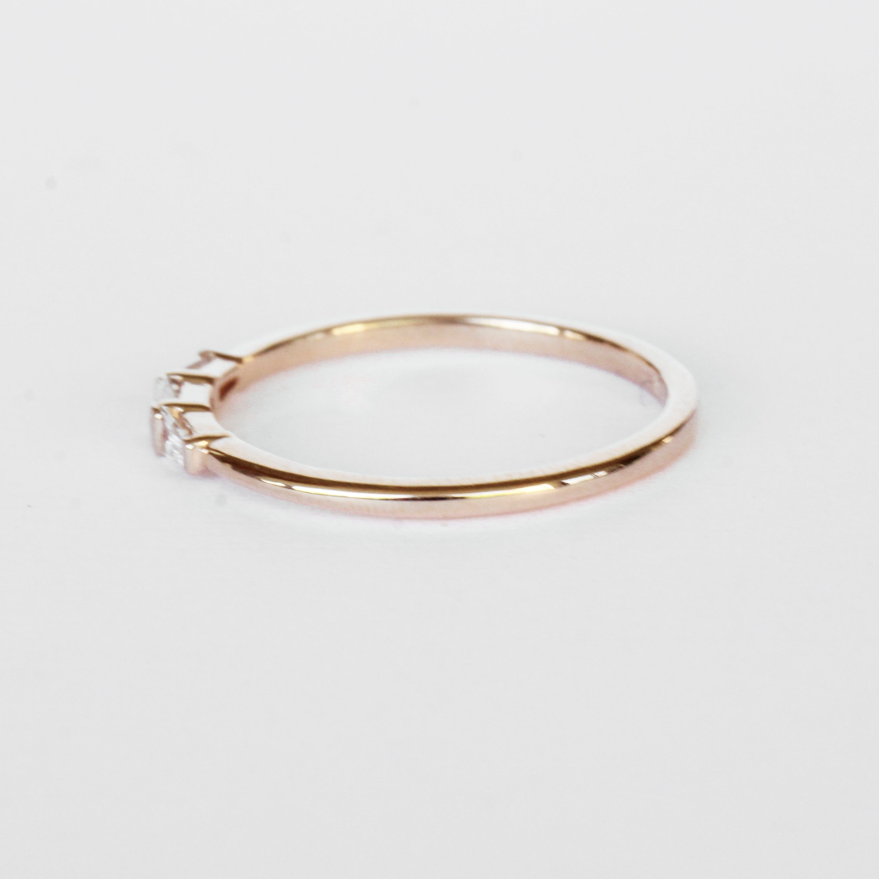 Woodsley Baguette Band Stackable Ring in Your Choice of 14k Gold - Celestial Diamonds ® by Midwinter Co.