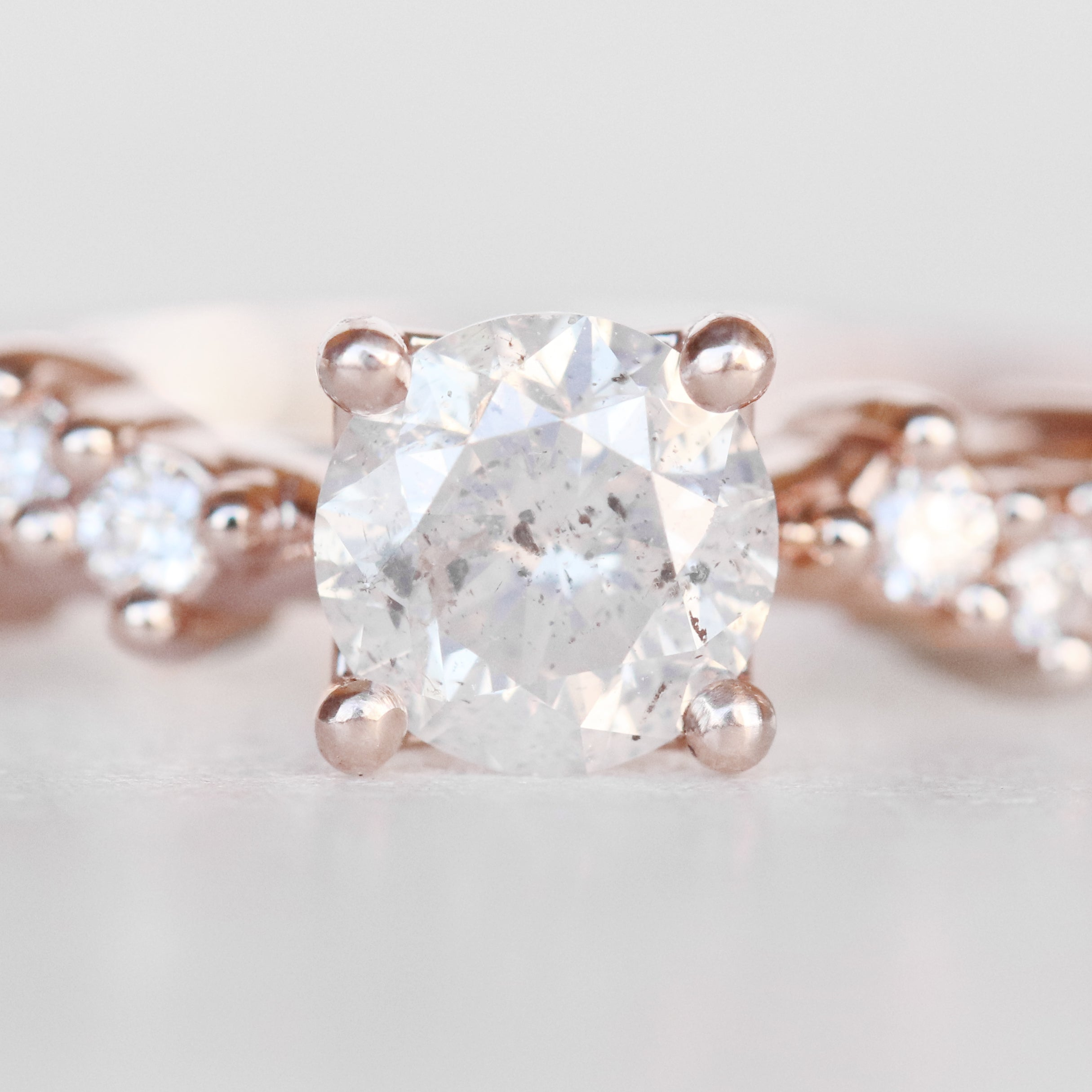 Zealan Ring with a .58 Carat Celestial Diamond in 14k Rose Gold - Ready to Size and Ship - Midwinter Co. Alternative Bridal Rings and Modern Fine Jewelry