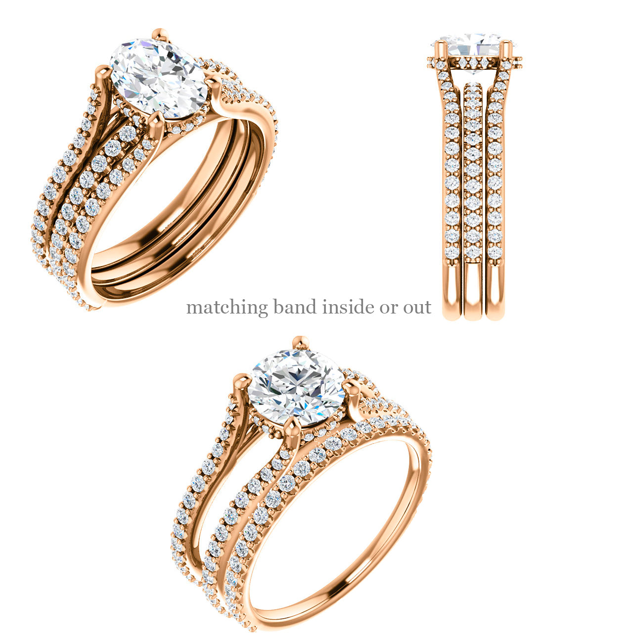 Ariel setting - Salt & Pepper Celestial Diamond Engagement Rings and Wedding Bands  by Midwinter Co.