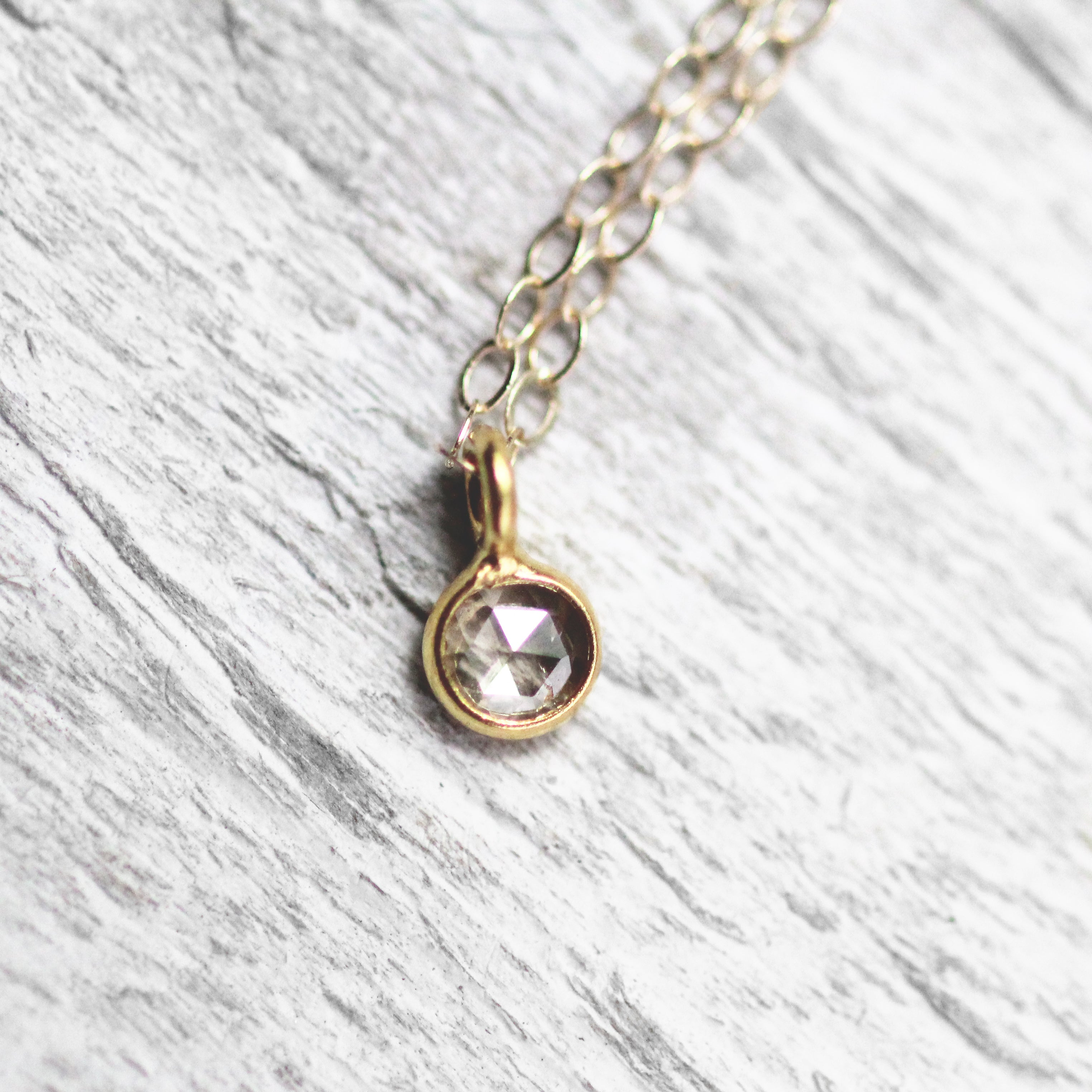 Petite 14k Clear Diamond Necklace - Ready to ship - Celestial Diamonds ® by Midwinter Co.