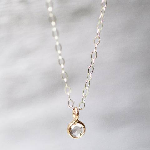 Petite 14k Clear Diamond Necklace - Ready to ship