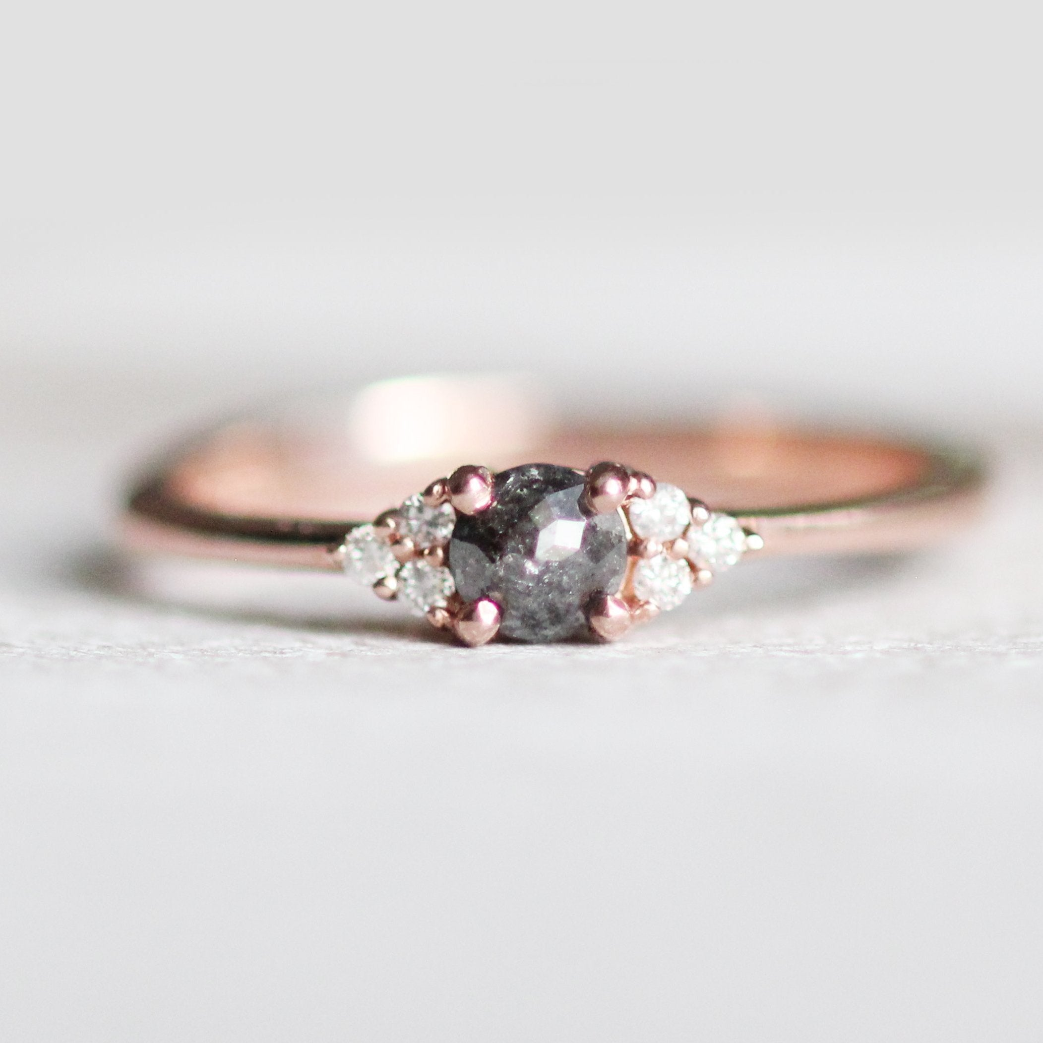 Imogene - Dark Rose Cut Diamond -  Choice of gold Imogene Diamond Band - Midwinter Co. Alternative Bridal Rings and Modern Fine Jewelry
