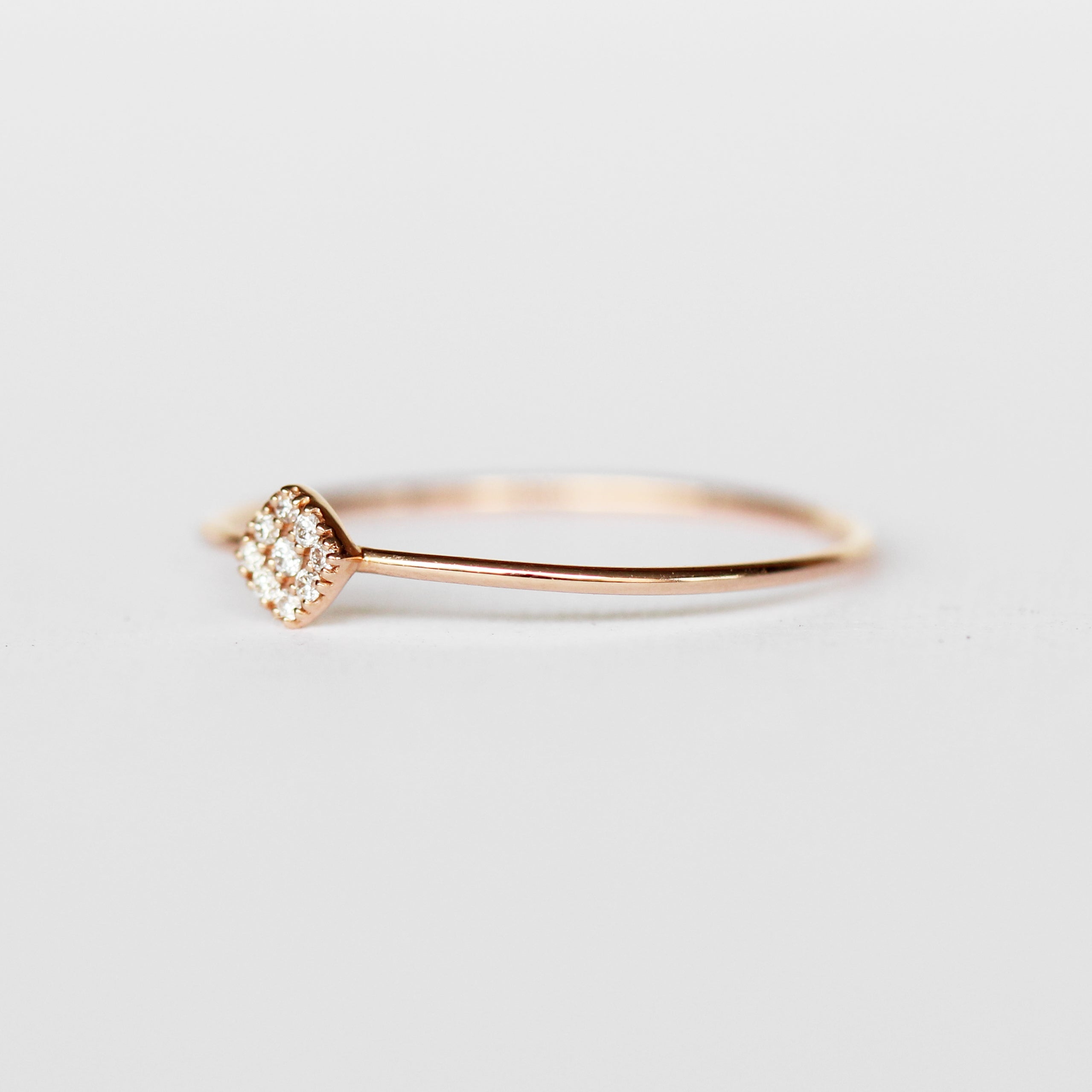 Bloom Diamond Band Stackable Ring in 14k Rose Gold - Ready to Size and Ship - Celestial Diamonds ® by Midwinter Co.