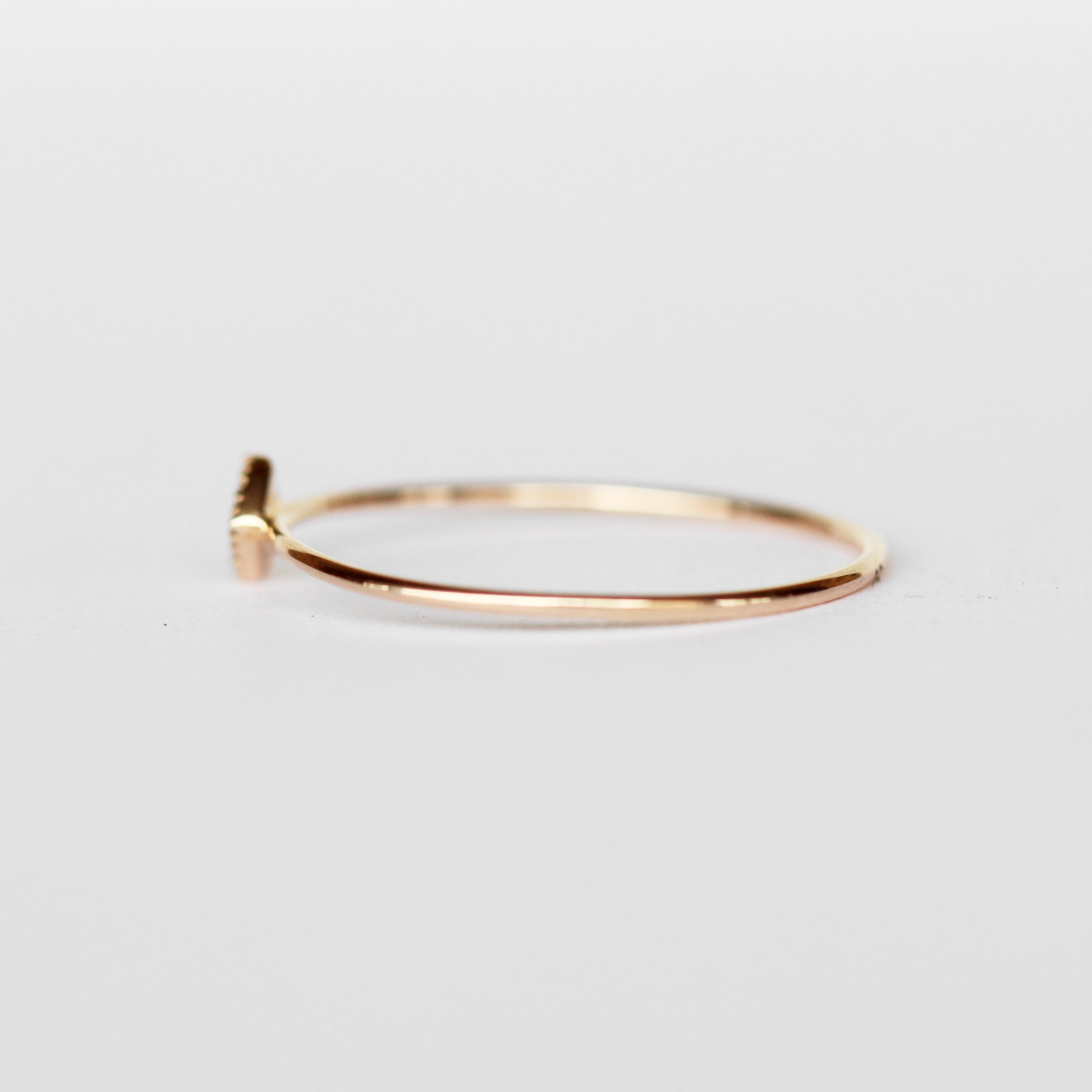 Bloom Minimal Ring - Diamond Band Stackable Ring in Gold - Celestial Diamonds ® by Midwinter Co.