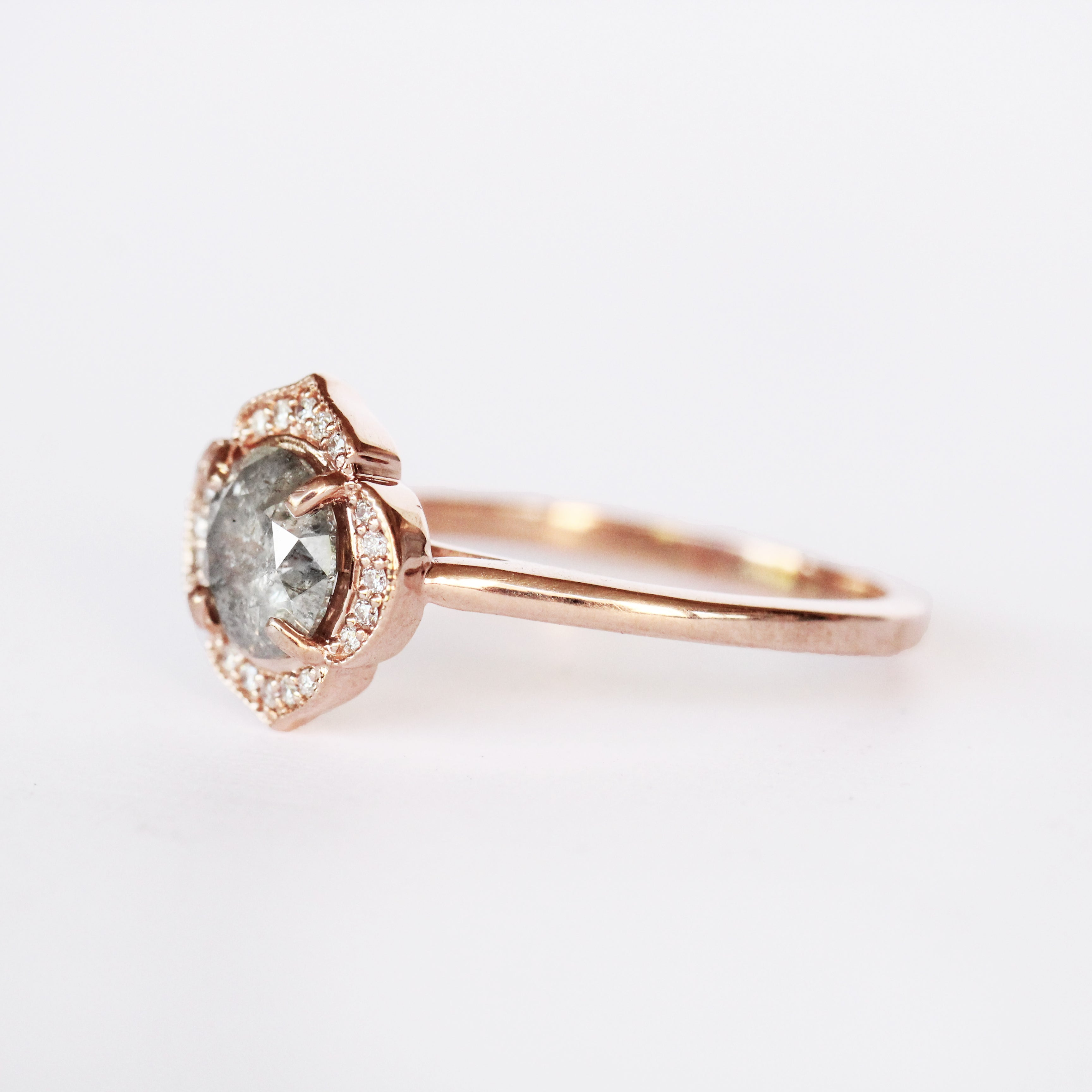 Clementine Ring with a 1.25ct Celestial Diamond in 10k Rose Gold - Ready to Size and Ship - Celestial Diamonds ® by Midwinter Co.