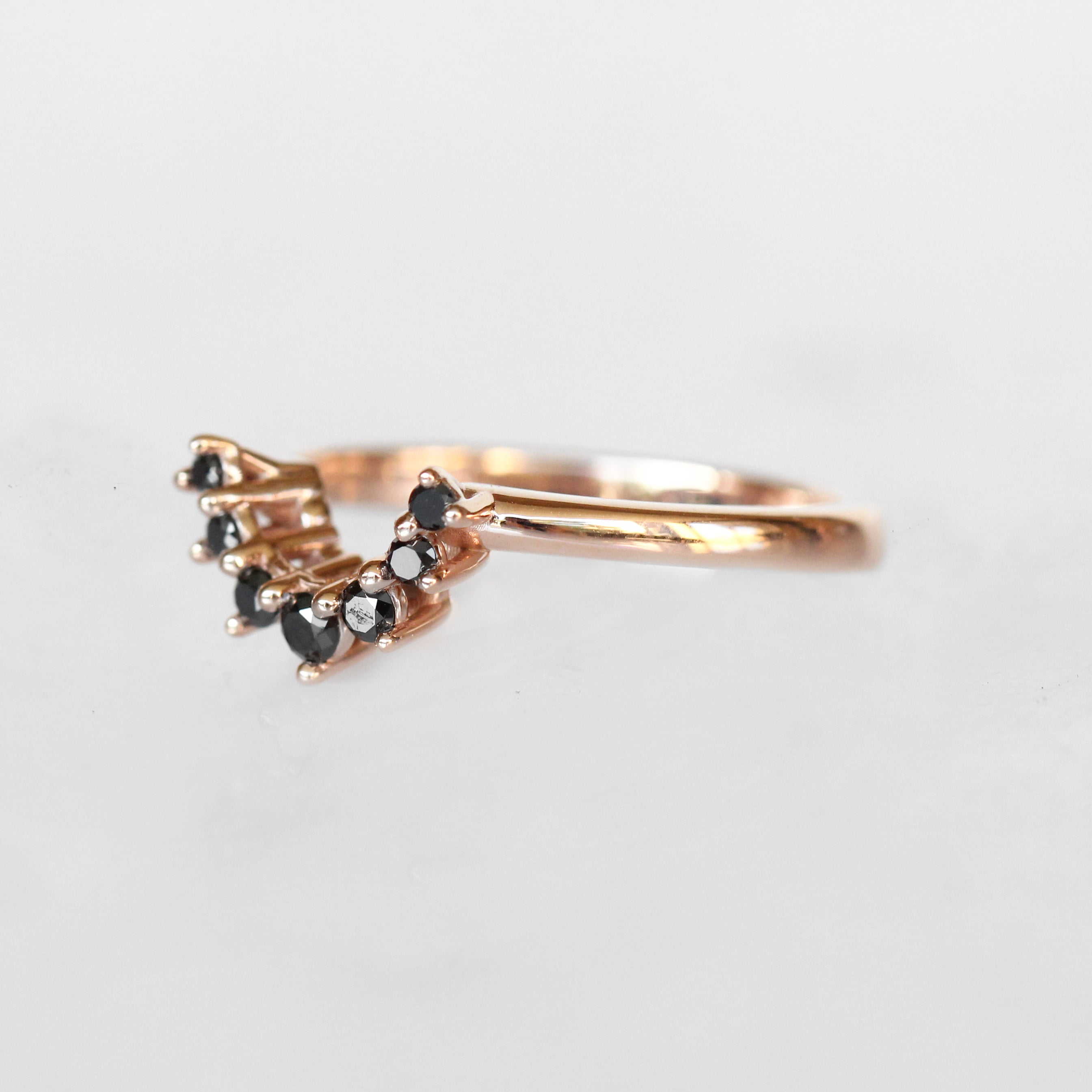 Ashlyn Ring with White Sapphire and Black Diamonds in 14k Gold - Celestial Diamonds ® by Midwinter Co.