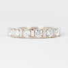 Demetria Diamond Engagement Ring Band - White diamonds