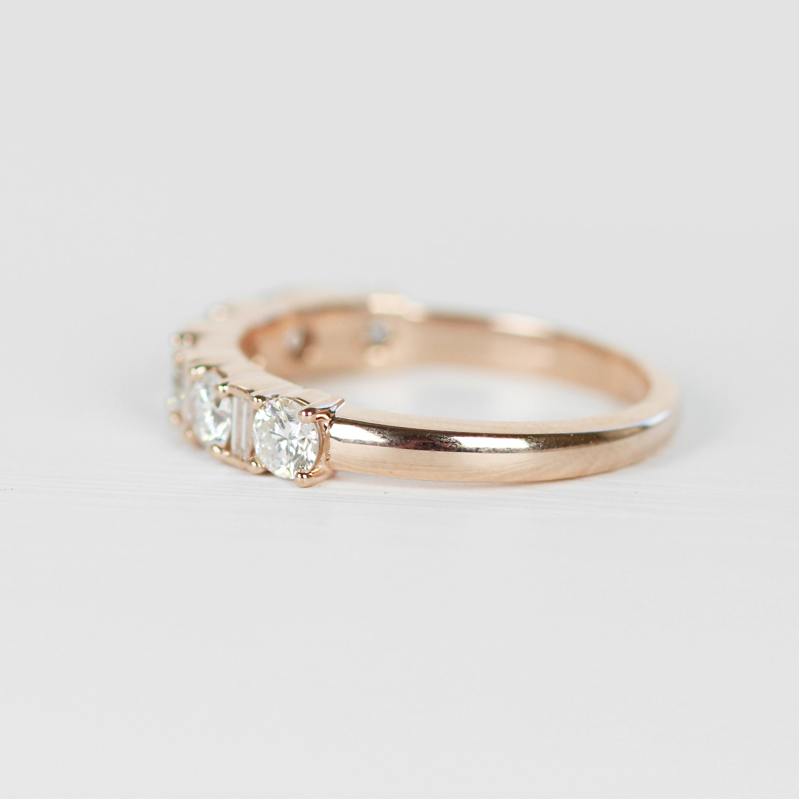 Demetria Diamond Engagement Ring Band - White diamonds - Celestial Diamonds ® by Midwinter Co.