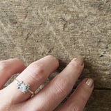 Dendritic Opal Pear Ring - Customizable