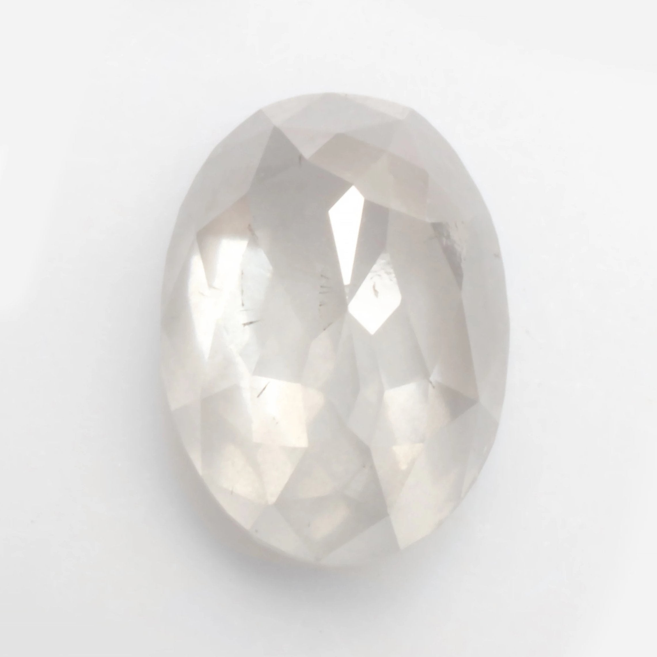 1.91ct Rose Cut Oval Celestial Diamond® for Custom Work - Inventory Code WOR191 - Celestial Diamonds ® by Midwinter Co.