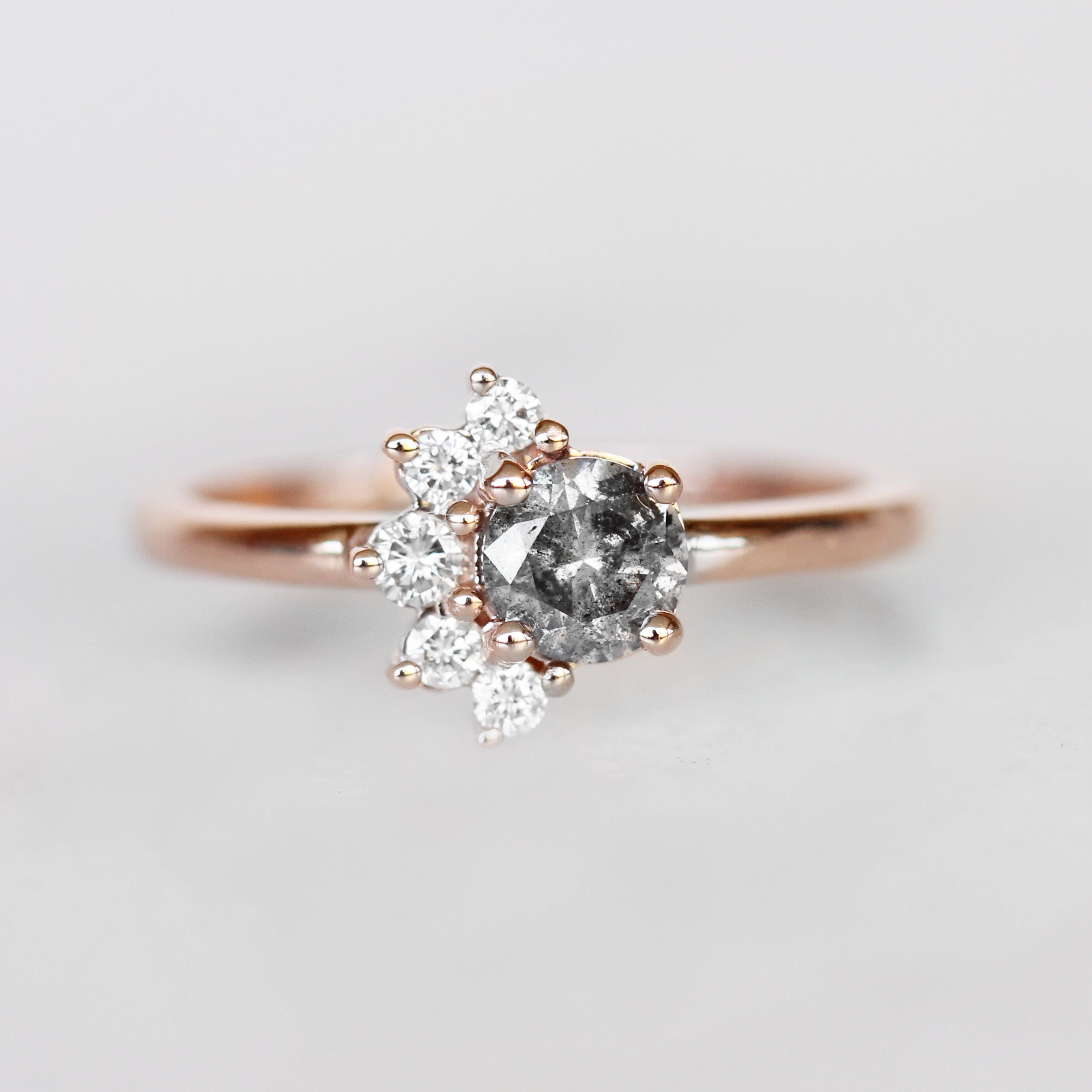 Drew Ring with a .51ct Celestial Diamond ® in 10k Rose Gold - Ready to Size and Ship - Celestial Diamonds ® by Midwinter Co.