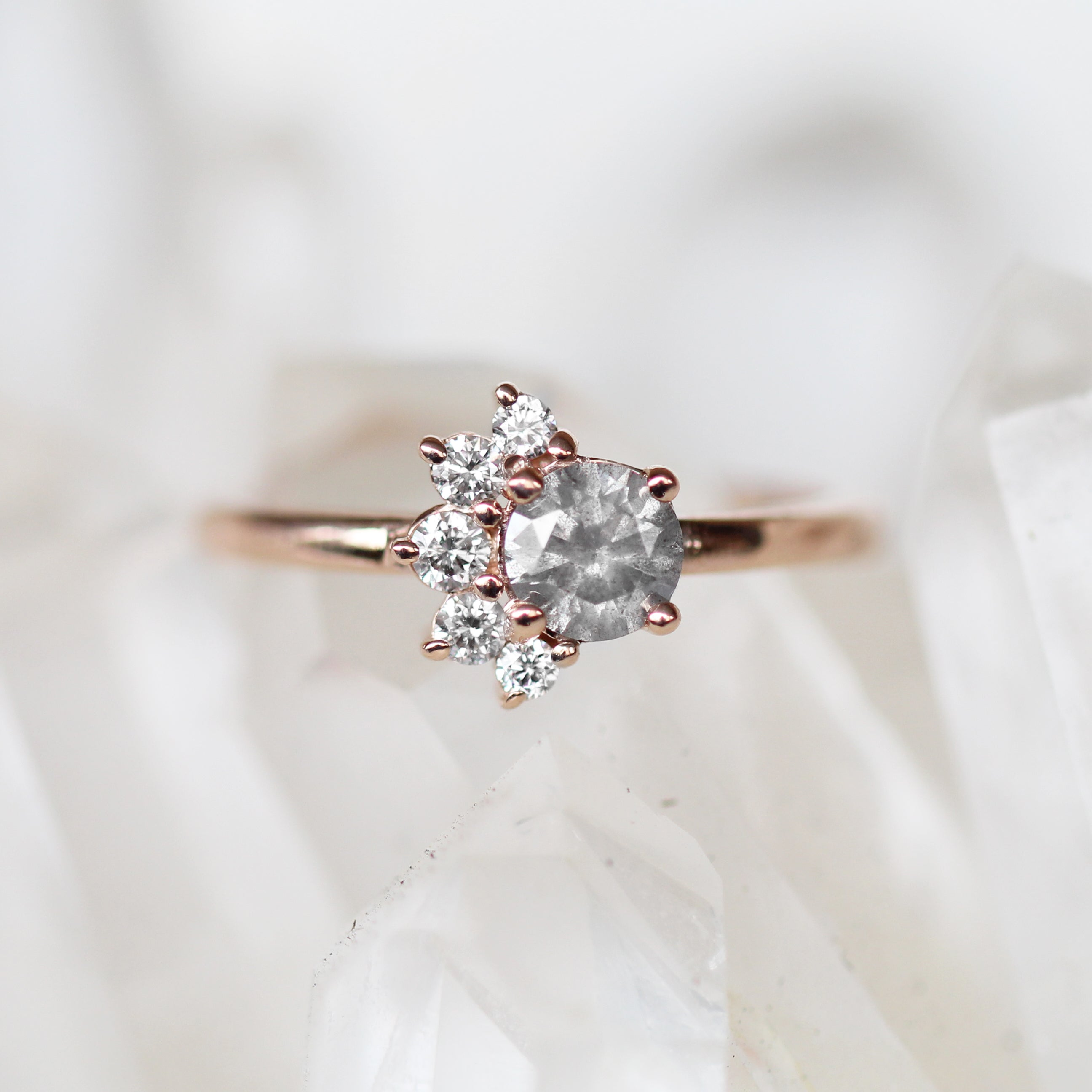 Drew Ring with a .68ct Celestial Diamond® in 10k Rose Gold - Ready to Size and Ship - Celestial Diamonds ® by Midwinter Co.